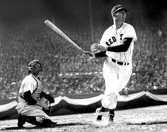 Ted Williams Legendary Hitter and Baseball Hall of Famer of the Boston Red Sox - 8X10 Photo (EP-699)
