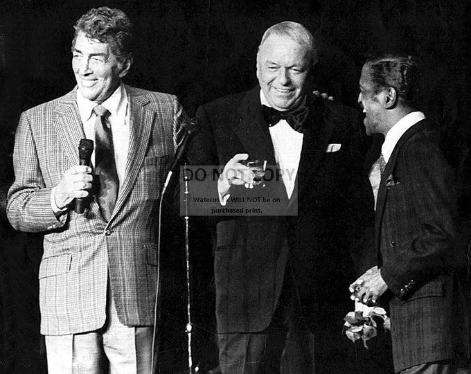 The Rat Pack - Dean Martin, Frank Sinatra & Sammy Davis, Jr. - 5X7 or 8X10 Photo (AA-079)