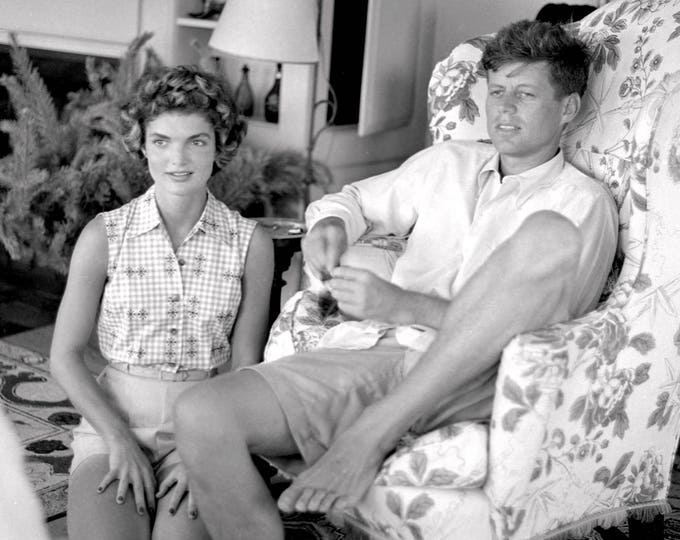 Jacqueline Bouvier With Fiancé Senator John F. Kennedy - 5X7, 8X10 or 11X14 Photo (OP-853)