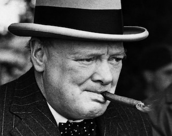 British Prime Minister Winston Churchill - 5X7, 8X10 or 11X14 Photo (EP-686)