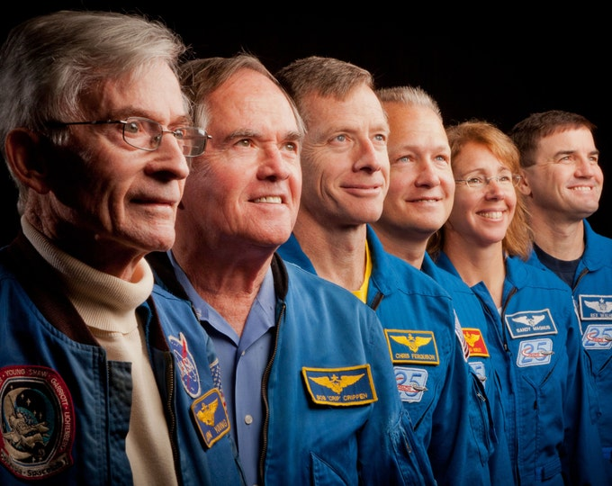 First & Last Astronaut Crews From Space Shuttle Missions - 5X7, 8X10 or 11X14 NASA Photo (ZZ-293)