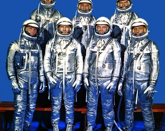 Original Mercury 7 Astronauts in Spacesuits - 5X7, 8X10 or 11X14 NASA Photo (EP-011)
