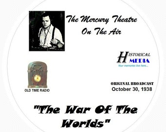 War of the Worlds Original Broadcast - Old Time Radio (OTR) on 1 Audio CD 52 Mins