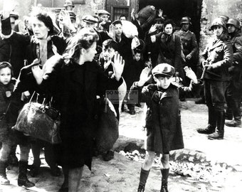 "Image From the 1943 ""Warsaw Ghetto Uprising"" - 8X10 or 11X14 Historic Photo (AZ167)"