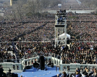 President Barack Obama Delivers His First Inaugural Address - 5X7, 8X10 or 11X14 Photo (ZY-393)