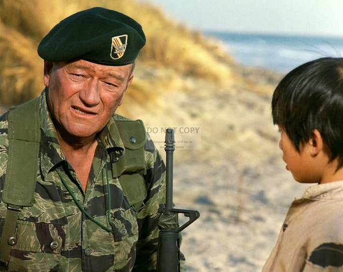 "John Wayne and Craig Jue in ""The Green Berets"" - 8X10 or 11X14 Publicity Photo (WW012)"