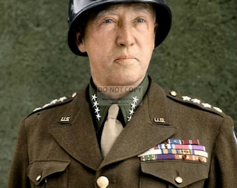 U.S. Army General George S. Patton in 1945 - 5X7, 8X10 or 11X14 Photo (EP-220)