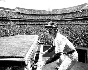 Elton John In Concert At Dodger Stadium in Los Angeles - 5X7, 8X10 or 11X14 Publicity Photo (AZ-573)
