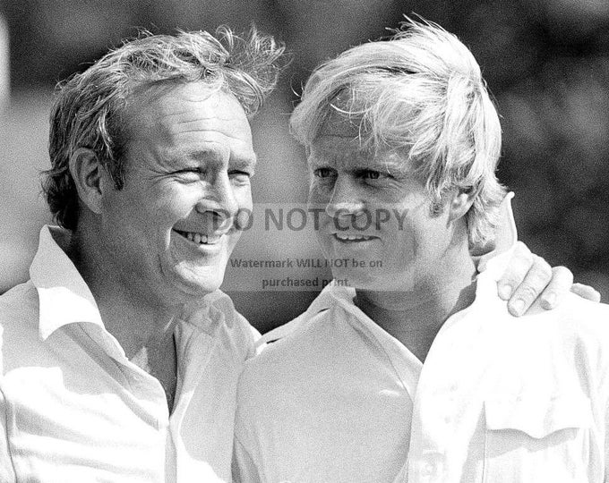 Jack Nicklaus and Arnold Palmer Golf Legends in April, 1973 - 5X7, 8X10 or 11X14 Photo (RT-409)