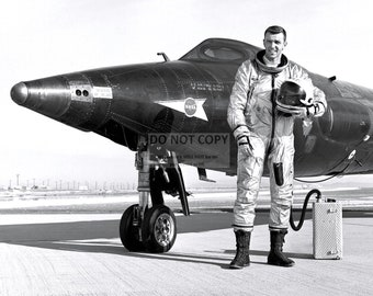 Test Pilot Captain Joe Engle Next to the X-15-2 Experimental Aircraft - 5X7 or 8X10 NASA Photo (AA-308)