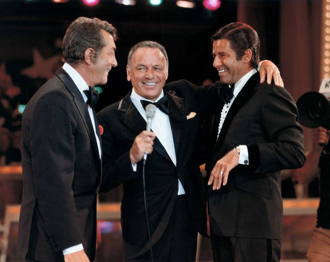 Frank Sinatra Reunites Dean Martin & Jerry Lewis in 1976 - 5X7, 8X10 or 11X14 Photo (OP-150)