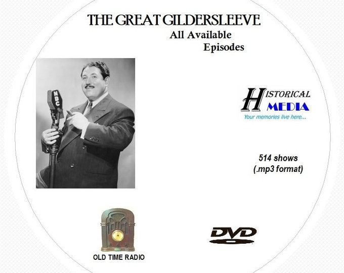 The Great Gildersleeve - 514 Shows of Old Time Radio in MP3 Format OTR on 1 DVD