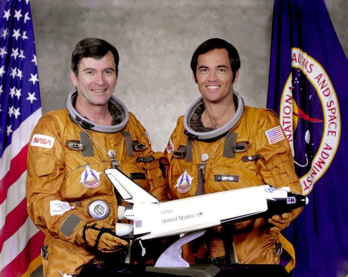 Astronauts John Young & Robert Crippen Space Shuttle Columbia STS-1 Crew - 5X7, 8X10 or 11X14 NASA Photo (EP-500)