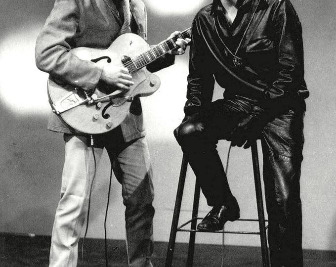 Eddie Cochran and Gene Vincent Rockabilly Legends - 5X7, 8X10 or 11X14 Publicity Photo (AZ058)