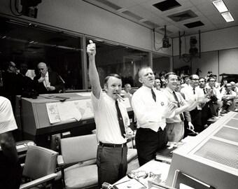 Mission Control Celebrates After Apollo 13 Splashdown - 5X7, 8X10 or 11X14 NASA Photo (EP-239)