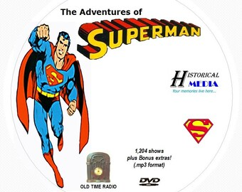 Adventures of Superman - 1,204 Shows of Old Time Radio in MP3 Format OTR on 1 DVD