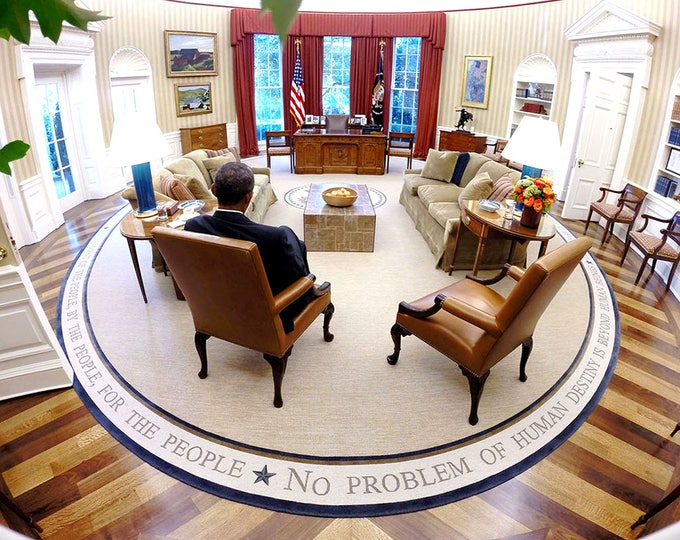 President Barack Obama Reads Briefing Material in the Oval Office - 5X7, 8X10 or 11X14 Photo (ZZ-594)
