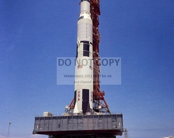 Ground-Level View of Apollo 11 Saturn V Spacecraft on Crawler - 5X7 or 8X10 NASA Photo (BB-014)