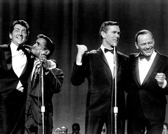 Johnny Carson With The Rat Pack: Dean Martin, Frank Sinatra and Sammy Davis, Jr. - 5X7, 8X10 or 11X14 Photo (EP-514)
