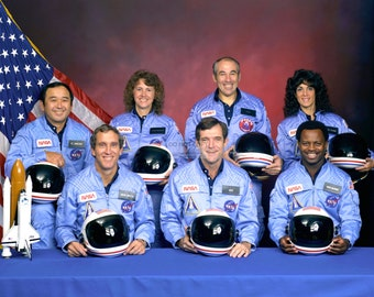 Space Shuttle Challenger Crew Portrait for STS-51L Mission - 5X7, 8X10 or 11X14 NASA Photo (EP-423)