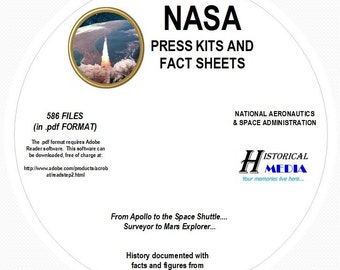 NASA Space Press Kit and Fact Sheet Collection - 586 Files 700mb of Data All on 1 PDF CD