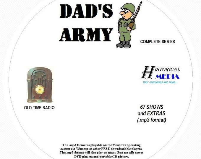 Dad's Army - 67 Shows Old Time Radio In MP3 Format OTR 1 CD
