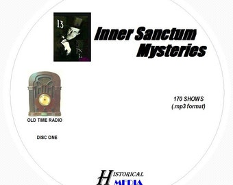 Inner Sanctum Mysteries - 170 Shows of Old Time Radio in MP3 Format OTR 2 CDs
