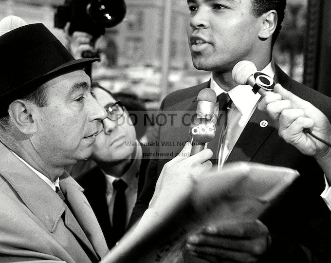 Muhammad Ali Is Interviewed by ABC's Howard Cosell in 1967 - 5X7, 8X10 or 11X14 Photo (ZY-144)