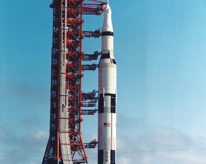 Rollout of the Apollo 11 Saturn V Rocket - 5X7, 8X10 or 11X14 NASA Photo (ZZ-149)