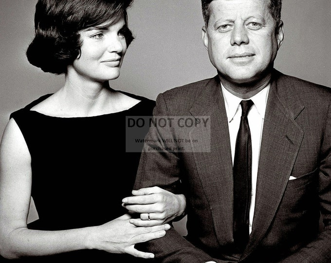 """President John F. Kennedy With First Lady Jacqueline """"Jackie"""" Kennedy - 5X7, 8X10 or 11X14 Photo (OP-078)"""