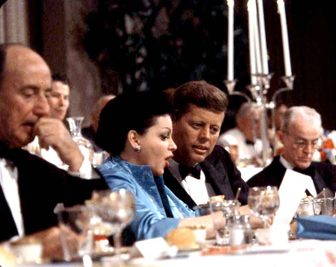 Judy Garland with John F. Kennedy at the 1960 Democratic National Convention in Los Angeles - 5X7 or 8X10 Photo (NN-134)