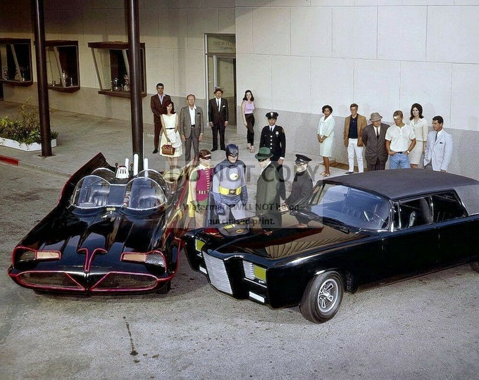 Batman and Robin with the Green Hornet and Kato - 5X7 or 8X10 Publicity Photo (BB-775)