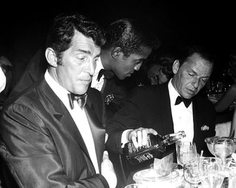 The Rat Pack: Dean Martin, Sammy Davis, Jr. & Frank Sinatra - 5X7 or 8X10 Photo (AZ-036)