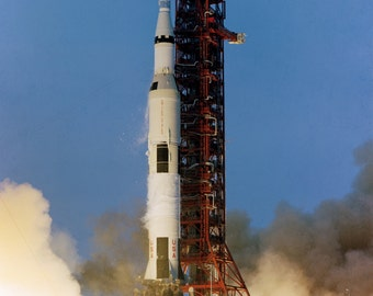 Apollo 13 Saturn V Lifts Off From Pad A Launch Complex 39 - 5X7, 8X10 or 11X14 NASA Photo (AA-159)