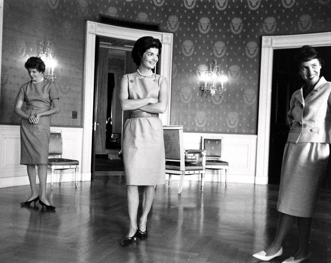 "First Lady Jacqueline ""Jackie"" Kennedy in the Blue Room of the White House - 5X7, 8X10 or 11X14 Photo (AZ110)"