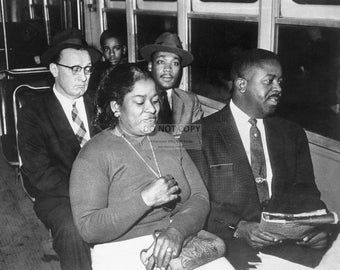 Martin Luther King, Jr. and Reverend Ralph Abernathy on Bus in Montgomery, Alabama in 1955 -5X7, 8X10 or 11X14 Photo (WW002)