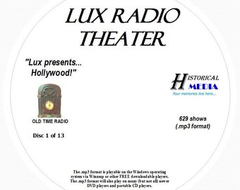 Lux Radio Theater - 629 Shows of Old Time Radio MP3 Format OTR 13 CDs