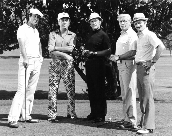 "Chevy Chase, Rodney Dangerfield & Ted Knight in the film ""Caddyshack"" - 8X10 or 11X14 Photo (CC-795)"