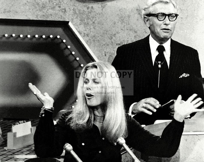 """Actress Elizabeth Montgomery & Host Allen Ludden on the Game Show """"Password"""" - 5X7, 8X10 or 11X14 Publicity Photo (XBB-573)"""