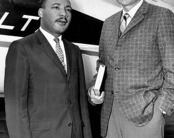 Rev. Billy Graham with Rev. Martin Luther King, Jr. - 5X7, 8X10 or 11X14 Photo (AZ-414)