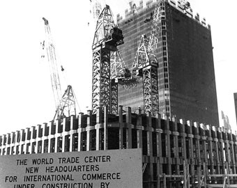 World Trade Center Under Construction in 1969 - 8X10 or 11X14 Photo (FB-367)
