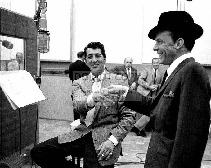Dean Martin & Frank Sinatra in the Recording Studio Rat Pack - 8X10 Photo (AA-985)