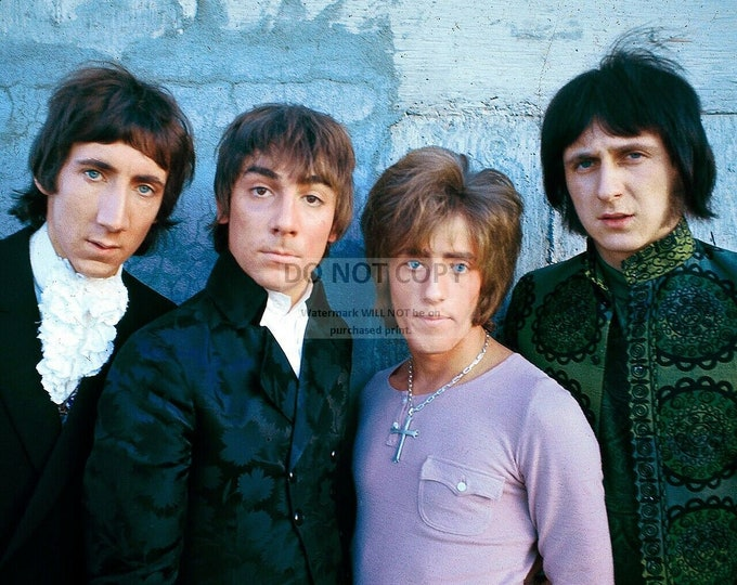 "Pete Townshend, Roger Daltrey, Keith Moon and John Enwistle ""The Who"" - 5X7 or 8X10 Publicity Photo (WW-024)"