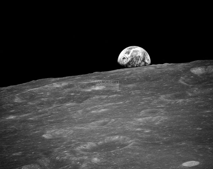 First Earth Rise Image from Apollo 8 - 5X7, 8X10 or 11X14 NASA Photo (SP-085)