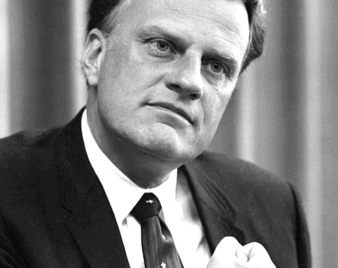 Rev. Billy Graham - 5X7, 8X10 or 11X14 Photo (AZ-415)