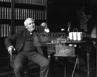 Thomas Alva Edison Inventor and Businessman - 5X7 or 8X10 Photo (DA-391)