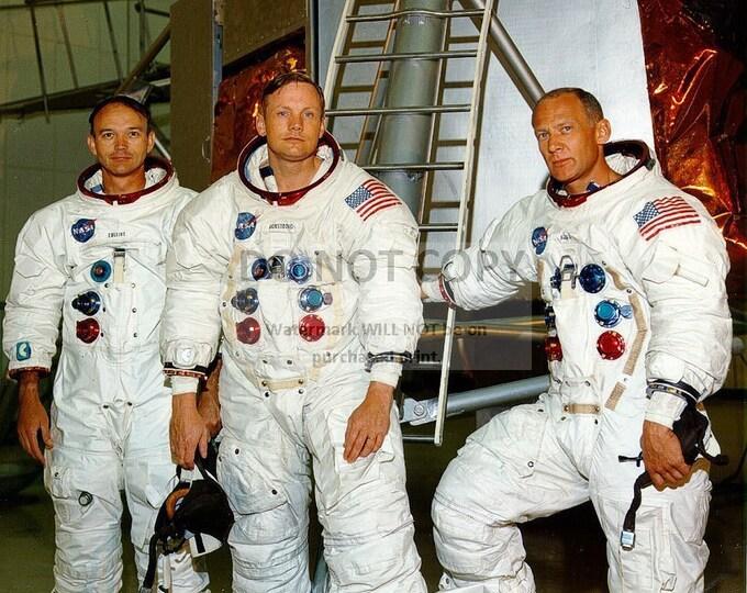 Neil Armstrong, Buzz Aldrin and Michael Collins Apollo 11 Crew - 5X7 or 8X10 NASA Photo (BB-032)