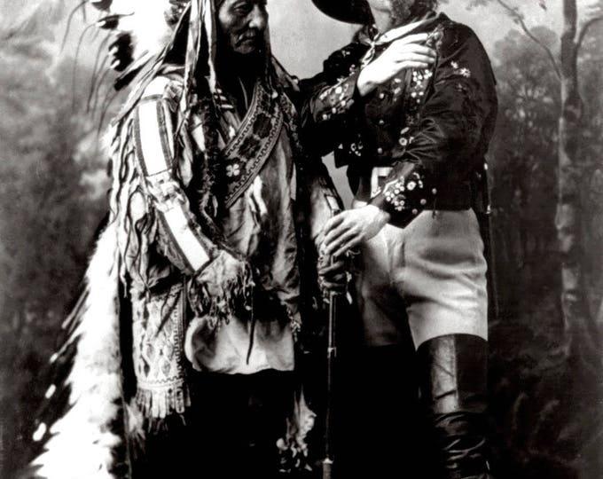 """Sitting Bull and """"Buffalo Bill"""" Cody in 1885 - 5X7, 8X10 or 11X14 Photo (DA-703)"""