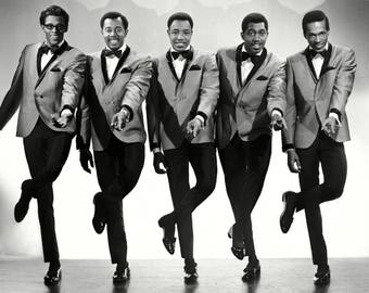 The Temptations Legendary Motown R&B Music Group - 8X10 or 11X14 Publicity Photo (DD-153)