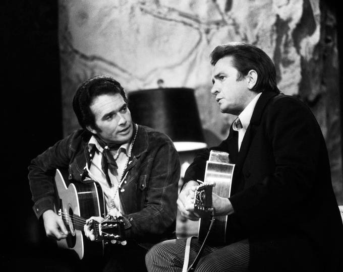 """Merle Haggard on """"The Johnny Cash Show"""" in 1969 - 5X7, 8X10 or 11X14 Publicity Photo (AZ038)"""